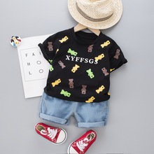 Kids Clothes Boys 2020 Summer  Toddler Clothing Set Cotton Cartoon Short Sleeve Suits for 1 2 3 4 Years Old Baby Outfit