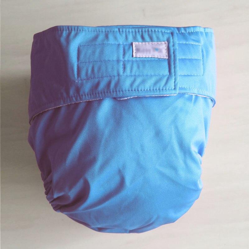 Многоразовые подгузники для взрослых для пожилых людей и людей с ограниченными возможностями, большие размеры, регулируемые термополиуретановые пальто, водонепроницаемая одежда для недержания при недержании - Цвет: blue
