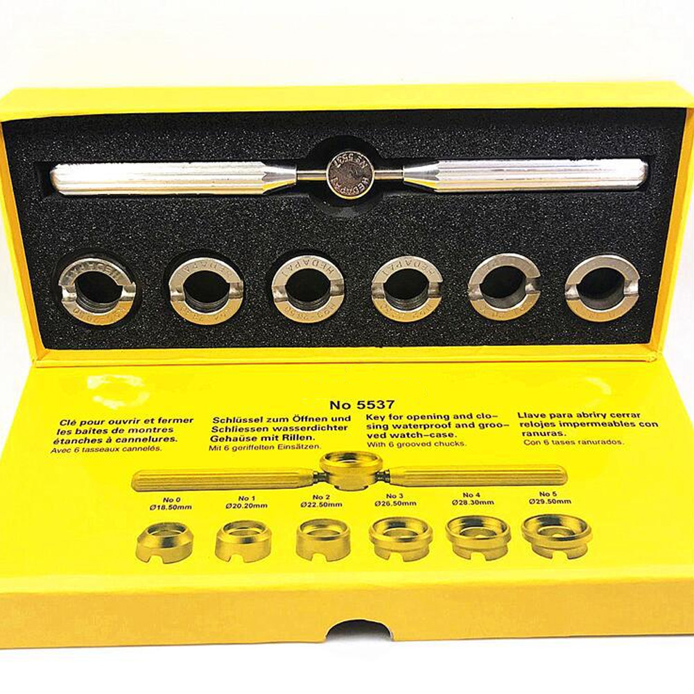 7 Pcs Case Back Watch Watchmaker Opener Kit Remover Repair Tool Gadgets With Different Sizes For ROLEX And Other Watches