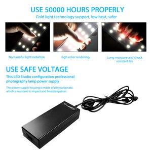 Image 5 - 60*60*60cm Photo Studio Light Box Softbox Portatile Tenda Foto Sfondo Bianco LED Lightbox per la Fotografia di Ripresa del prodotto