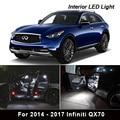 13 x Canbus Белый светодиодный комплект ламп для интерьера 2014 2015 2016 2017 Infiniti QX70 Карта Купол багажник номерной знак
