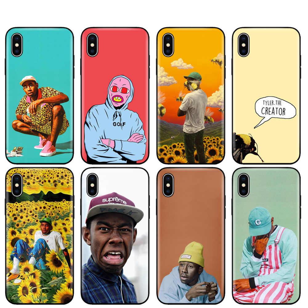 Czarny pokrowiec tpu na iphone 5 5s se 6 6s 7 8 plus x 10 pokrowiec silikonowy na iphone XR XS 11 pro MAX tyler twórca Pop Rap piosenkarka