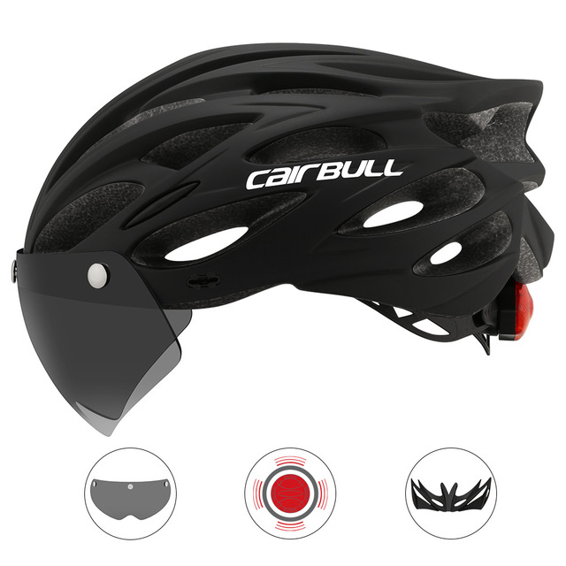 Cairbull Cycling-Helmet Visor-Goggles Bike-Taillight Mountain-Road Removable Intergrally-Molded title=