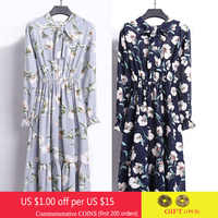 Nouveau printemps femmes en mousseline de soie chemise robe léopard plissé une ligne rayure mince robes de plage femme Vintage imprimé fleuri robe Vestidos