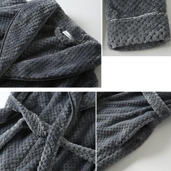 Flannel Night Gown Long Sleepwear Cozy Soft Warm Advanced Baggy Pregnant Homewear Couple Pajamas
