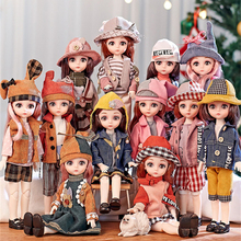 BJD Doll Shoes Wigs Joints Makeup-Collection 30CM with Full-Outfits Toys Christmas-Gifts