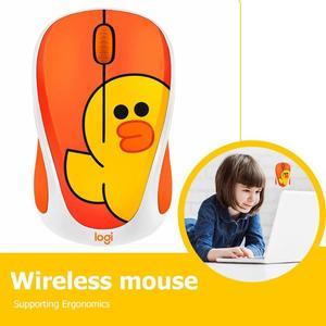 Image 4 - Logitech mignon dessin animé rose souris sans fil USB optique ordinateur Mini souris 2.4GHz Hamster conception petite main souris pour fille ordinateur portable
