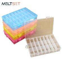 24 Grids Plastic Tool Box Small Gadget Storage Box Tools Case Jewelry Organizer Electronic