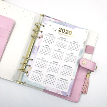 Fromthenon год календарь индекс делители акварель Заправка для A5A6 6 отверстий лист блокнот на спирали, дневник школьные канцелярские принадлежности