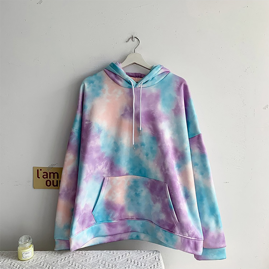 2020 Spring New Arrive Loose Casual Women Hoodies Patchwork  Color Personality Coats Top Fashion Simple Design Hoodies