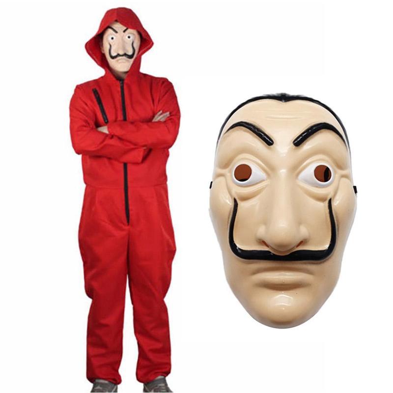 Stage Clothing Unisex For Salvador Dali La Casa De Papel Money Heist Cosplay Halloween Costume