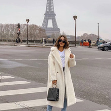 Lamb Fur Trench Coat Woman Europe America Street B