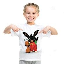 T-Shirt Children Bing Girl Cartoon-Print Tops Toddler Kids Little New-Fashion Cute Summer