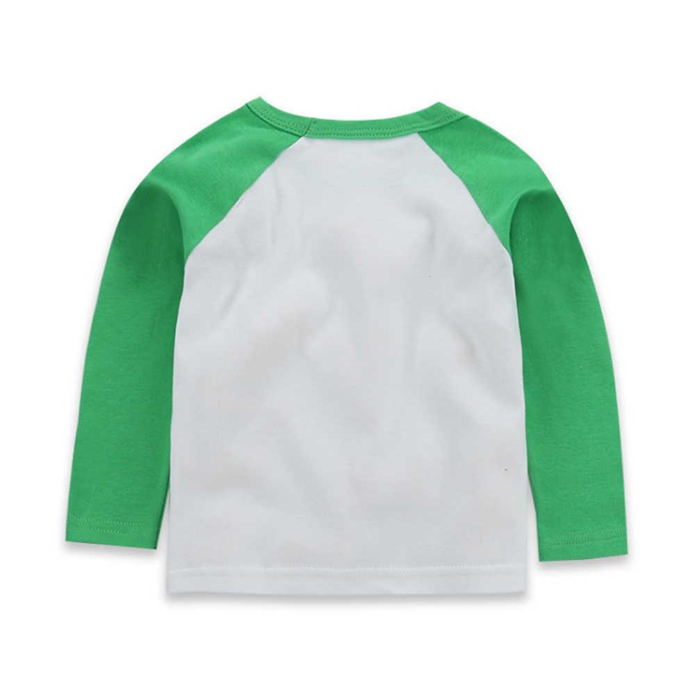 Модная весенне-Осенняя детская верхняя одежда топы, футболки, футболка с длинным рукавом для мальчиков и девочек, футболка с героями мультфильмов Детская Хлопковая одежда в полоску