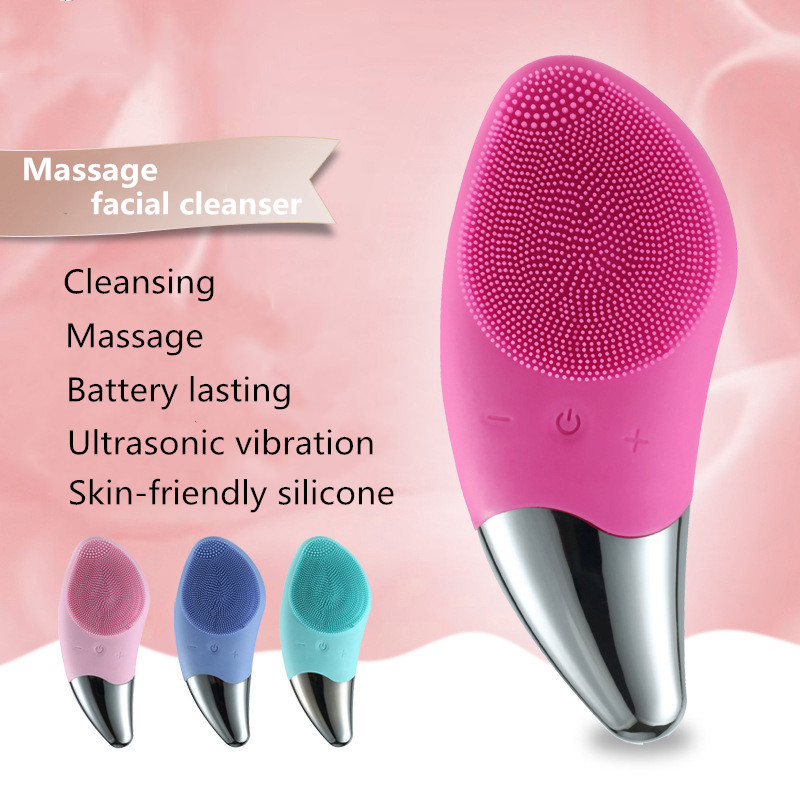 Electric Cleansing Brush Silicone Cleansing Instrument Deep Cleansing Face Sonic Cleansing Instrument Skin Care Massage Brush