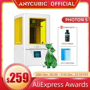 ANYCUBIC-Impresora 3D photon-s, doble eje Z, corte rápido, matriz de 405nm, módulo...