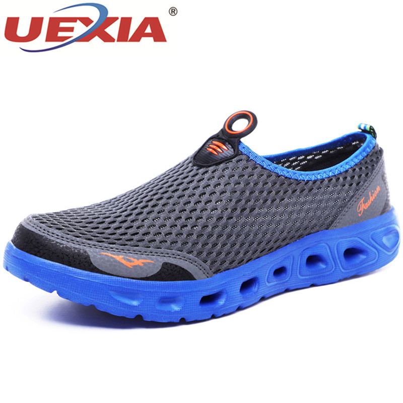 UEXIA Big Plus Size Shoes Unisex Summer Sneakers Light Breathable Casual Shoes Couple Fashion Comfortable Mens Mesh Flats Shoe