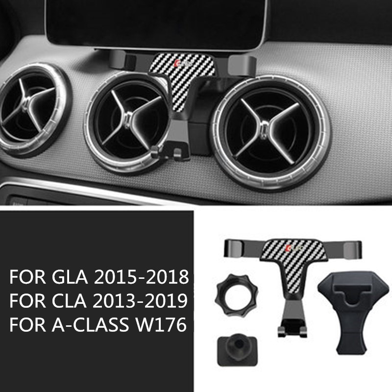For Mercedes-Benz GLA X156 CLA X117 C117 A-Class W176 Auto Smart Cell Hand Phone Holder Air Vent Cradle Mount Stand Accessories