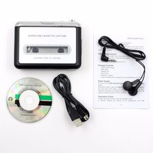 LESHP Tape Cassette Convert To MP3 Player Converter To USB Audio Captuer Walkman Music Player + CD +USB cable+ Earphones(China)