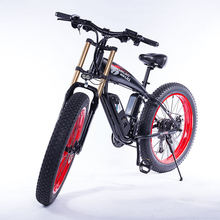 "Electric bike 1000W4 0 fat tire electric bike beach cruiser bike Booster bicycle 48v 15AH lithium battery ebike Off-road downh cheap 500w 26"" 30-50km h Brushless Aluminum Alloy 31 - 60 km One Seat Luxury Type"