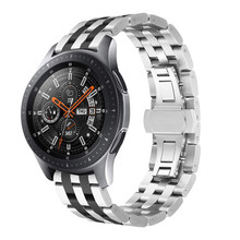 For Samsung Galaxy Watch 46mm Band 22mm Stainless Steel Metal Link Bracelet Wrist Strap for for Samsung Gear S3 Classic Frontier new stainless steel watch band wrist strap 22mm for samsung galaxy watch 46mm smart accessories for samsung gear s3 frontier