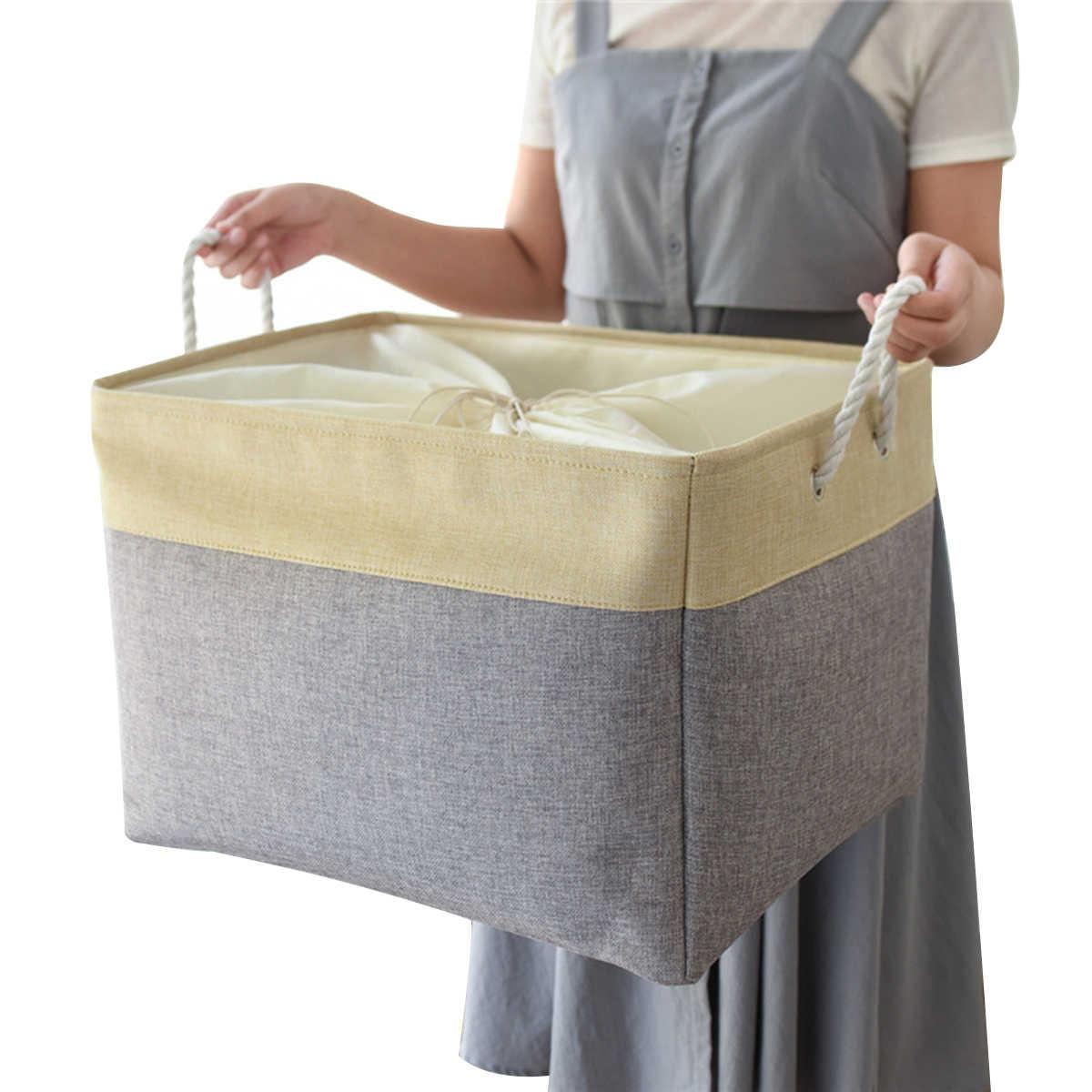 Storage Baskets Multi Purpose Organizer Basket With Handles For Laundry Hamper Toy Bins Gift Basket Bedroom Clothes Baby Nursery Storage Baskets Aliexpress