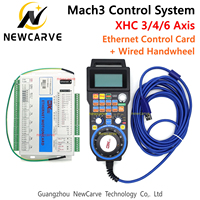 CNC Mach3 XHC Ethernet 3 4 6Axis Breakout Board USB Motion Control Card With LHB04B MPG Pendant Handwheel For Engraving Newcarve
