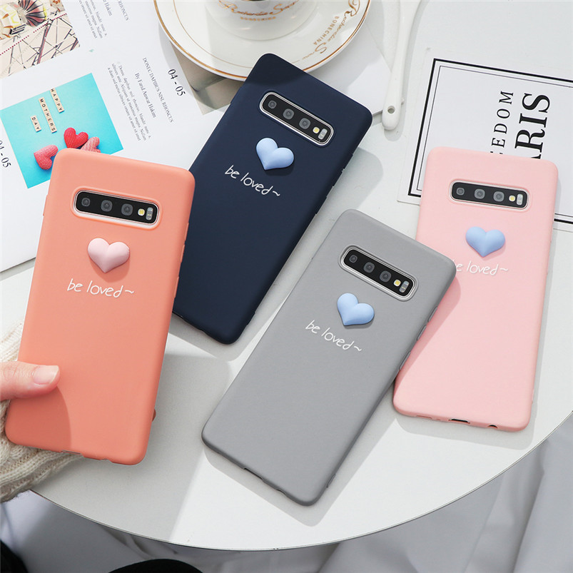 3D Cute Heart Case For Funda <font><b>Samsung</b></font> Galaxy Note 8 9 10 S6 Edge J3 J5 J7 Prime A5 A7 2017 <font><b>2016</b></font> A8 <font><b>A9</b></font> J4 J6 A6 Plus 2018 TPU <font><b>Capa</b></font> image