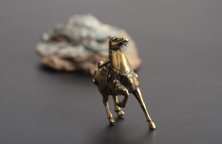 Copper Running War Horse Figurines  (11)