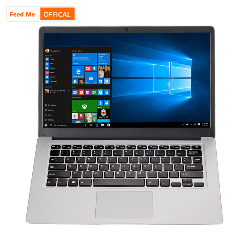 14.1 Inch Cheap Laptop Intel Windows 10 Student Notebook 4GB RAM 64GB EMMC 256GB SSD With WiFi HDMI Bluetooth 4.0 Webcam Netbook