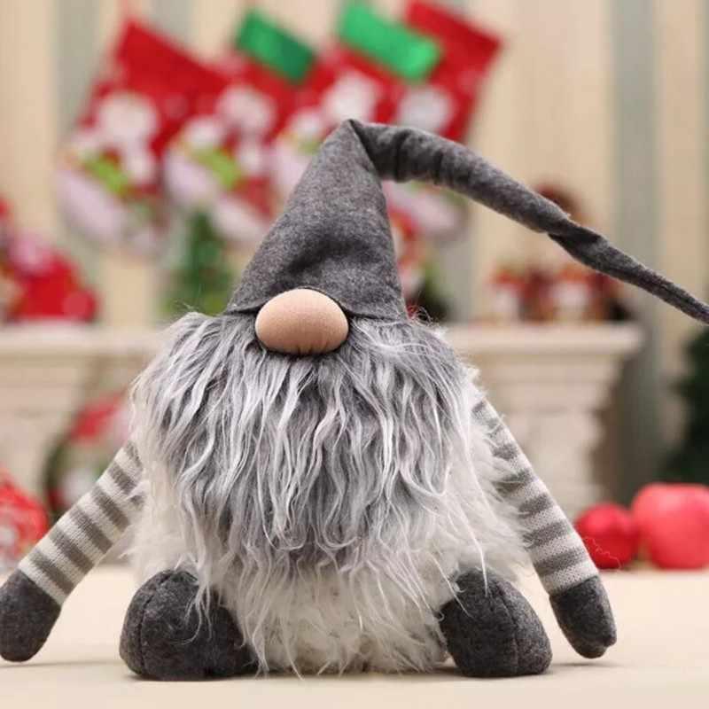 Divertente Gnome Decorazioni Di Natale Svedese Di Natale tomte/nisse di Babbo natale Decorazione Peluche di Natale Gnome Di Natale Scherza il Regalo Q1