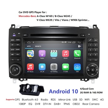 Android10 2Din Auto Radio Car DVD GPS For Mercedes Benz B Class B200 W169 W245 W639 Viano Vito Sprinter B170 Headunit Stereo USB image