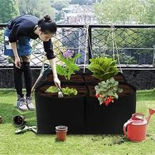 2020 filc narzędzia ogrodnicze nasiona warzyw truskawka pomidor ziemniak donica na rośliny pionowy ogród kryty ogród powiększająca torba ogrodnictwo tanie tanio Rozwijaj torby Włókno roślinne 123ZBW