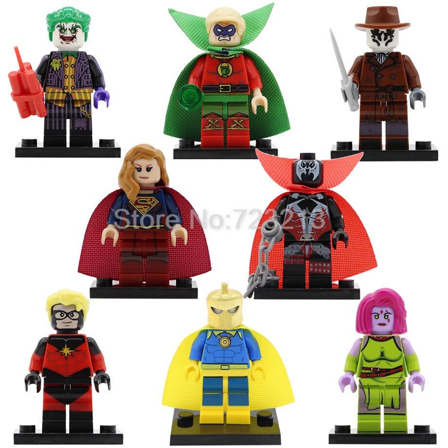 Super Hero Blink Mar-Vell Figure Comic Spawn Joker Dr Fate Rorschach Green Lantern Building Blocks Sets Model Kits Toy Legoing