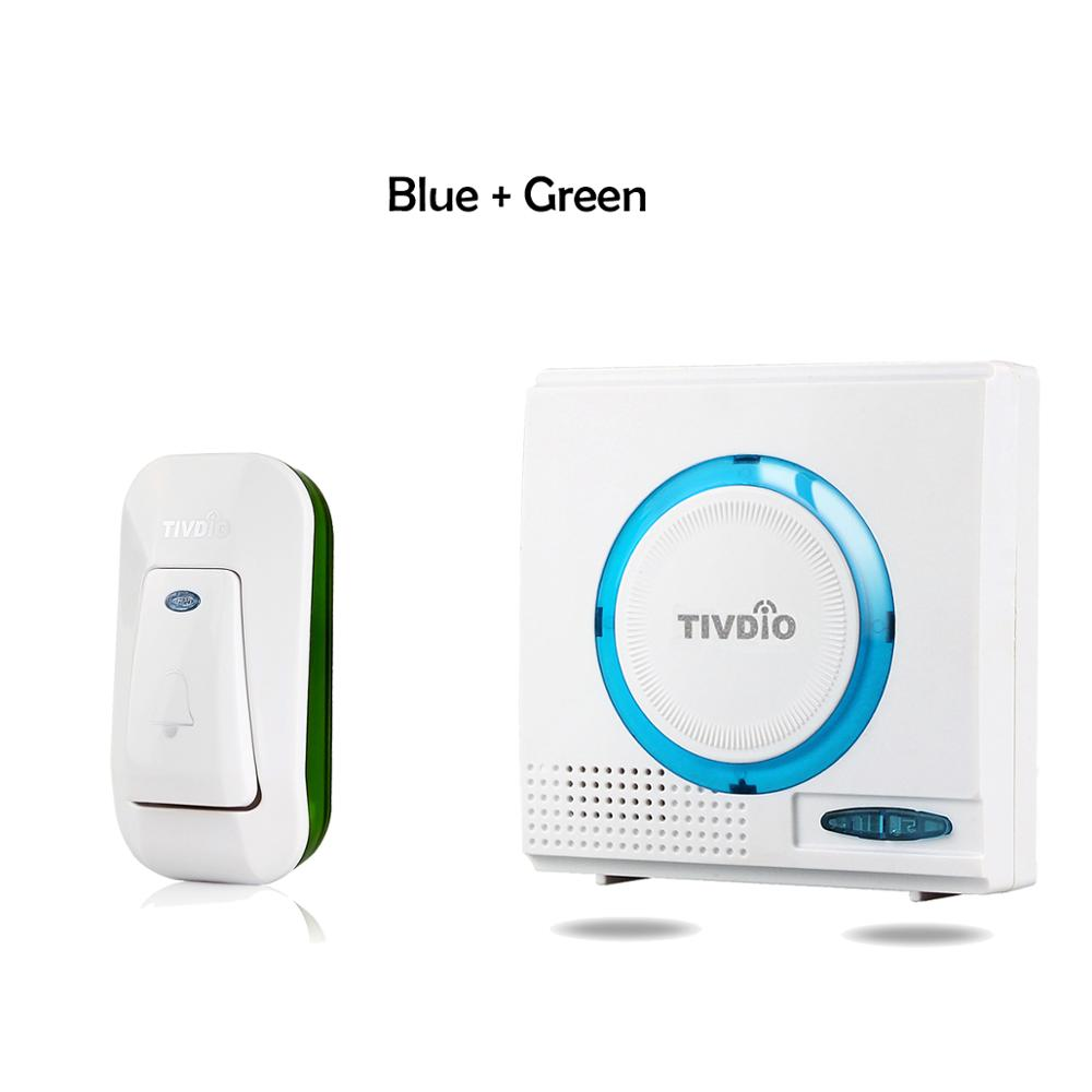 2 Color Wireless Battery Doorbell Chime Kit Remote Door Bell Button With Receiver LED Indicator F9508