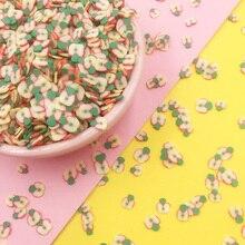 100 г Красочные Яблоки полимерная Горячая глина ломтик брызги для рукоделия украшения ногтей поддельные торт десерт пищевые частицы