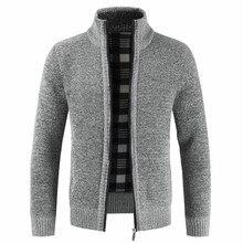 NEGIZBER Осень Зима Новая мужская куртка приталенная стоячий воротник куртка на молнии мужская однотонная хлопковая Толстая теплая куртка для мужчин