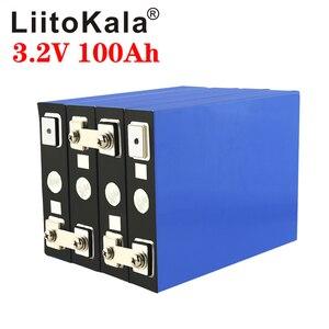 LiitoKala 3.2v 100Ah LifePo4 battery lithium 300A 3C high drain for diy 12V 24V solar Inverter electric vehicle golf car