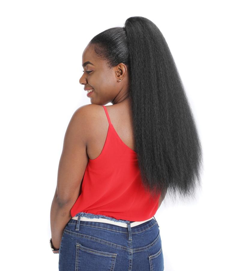 extensão do cabelo resistente ao calor sintético