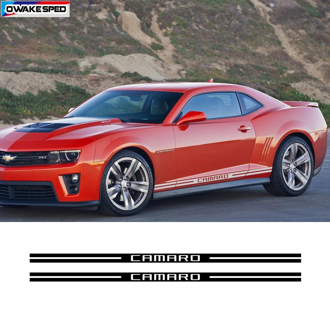 Graphics Racing Line Sticker Car Side Decal for Chevrolet Corvette Camaro.