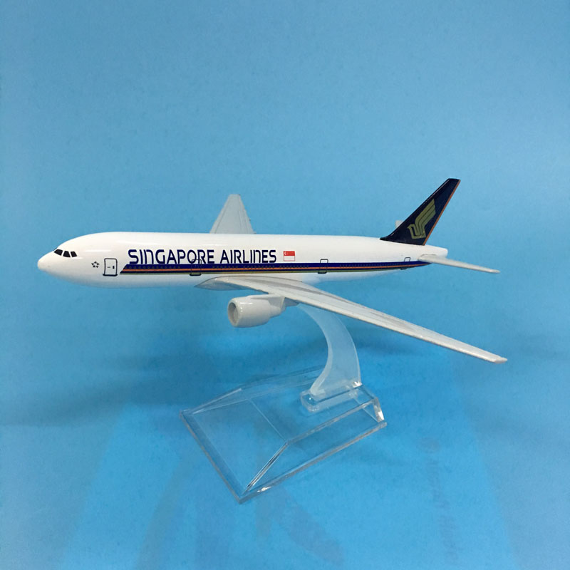 Singapore Airlines Aeroplane Model Boeing 777 Airplane 16CM Metal Alloy Diecast 1:400 Airplane Model Toy For Children