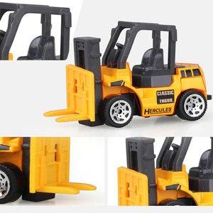 Image 4 - 1:64 vehículos de ingeniería multitipo de imitación de inercia, tamaño mediano, excavador para niños, modelo de coche, juguetes para niño