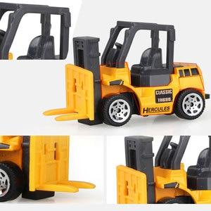 Image 4 - 1:64 중형 모조 관성 멀티 타입 엔지니어링 차량 어린이 굴삭기 모델 자동차 장난감 소년 용