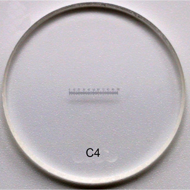 C1-C7 0,01 MM Vetrini per microscopio Calibrazione del reticolo - Strumenti di misura - Fotografia 6