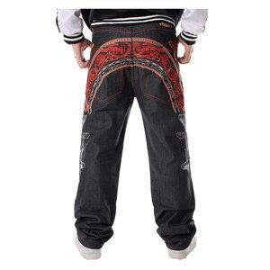 Image 1 - Sokotoo Mannen Hip Hop Jeans Koele Persoonlijkheid Borduurwerk Losse Broek Denim Streetwear Lange Broek Mannelijke