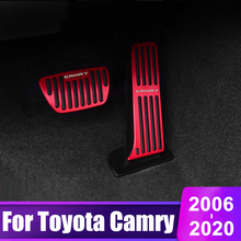 Aluminium alloy Car Accelerator Brake Pedal Foot Rest Pedals For Toyota Camry 2006-2012 2013 2014 2015 2016 2017 2018 2019 2020 lsrtw2017 aluminium alloy car accelerator brake pedal trims for peugeot 3008 5008
