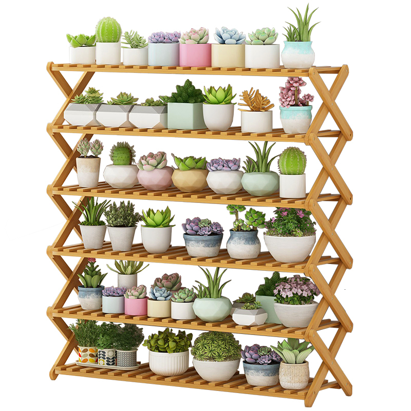 Flowerpot Frame Solid Wood Decorate  AirsMulti-storey Indoor Balcony Flower Rack Household