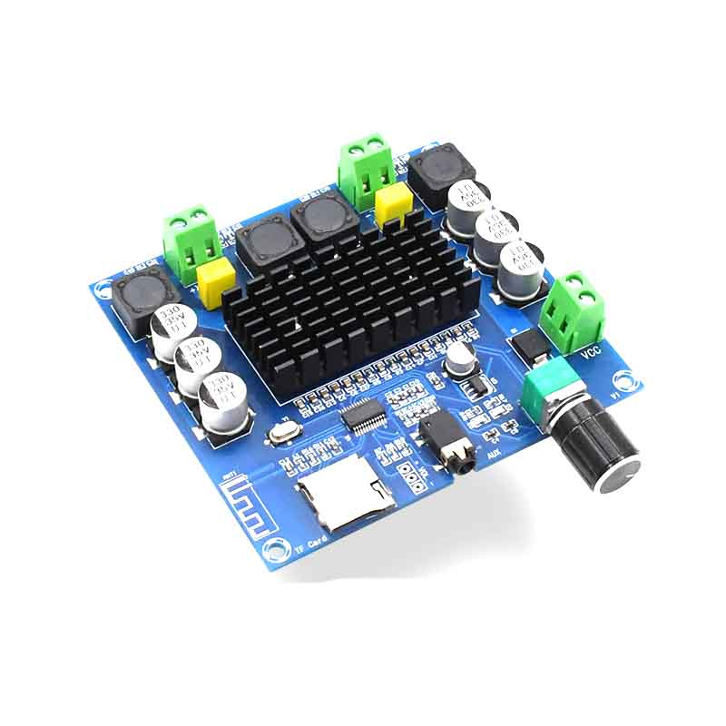 KYYSLB DC12~30V 100W*2.05.0 Bluetooth Amplifier Board TDA7498  XH-A105 Digital Amplifier Board Support AUX Onboard Potentiometer