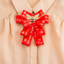 Fashion China Red Ribbon Brooch Big Brand Bee Broche Bowknot Bows Merry Christmas Letter Corsage Brooches for Women Neck Ties fashion women ribbon brooches college black white stripe big brand red bee brooch pins for school girl corsage collar jewelry
