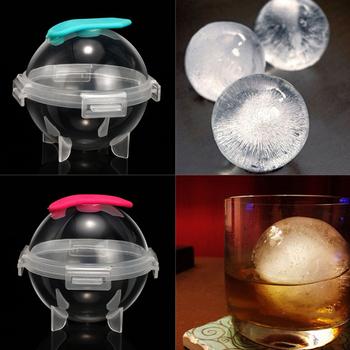 5CM okrągły kształt forma do kulek lodowych forma do kostek lodu DIY maszyna do lodów przyrząd kuchenny narzędzie barowe akcesoria do koktajli whisky tanie i dobre opinie Pojemniczki na lody CN (pochodzenie) Ekologiczne Ice Cube Przybory do lodów SILICONE CE UE Silicone ice cream maker Ice Ball Maker Mold